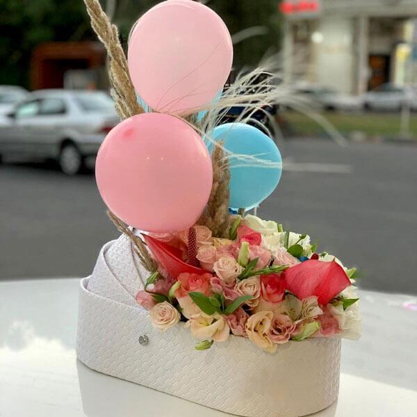 باکس گل نوزاد پرنیا