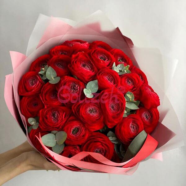 دسته گل آنمون قرمز