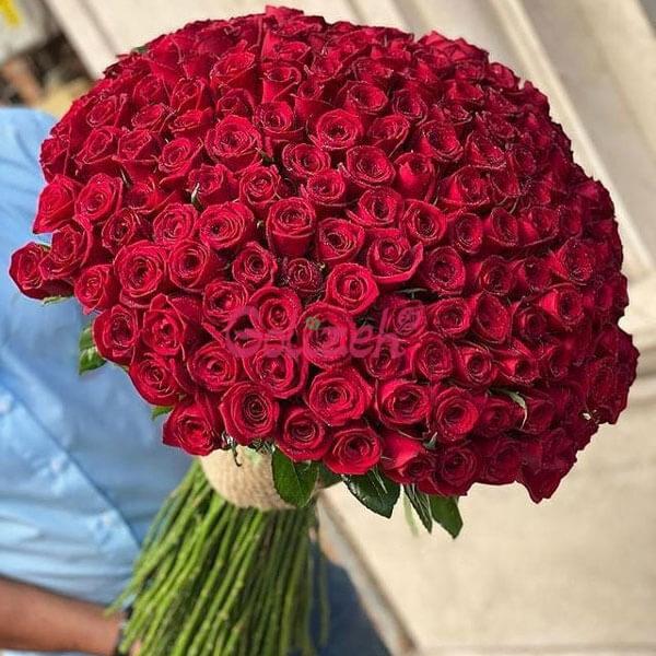 دسته-گل-رز-قرمز200شاخه