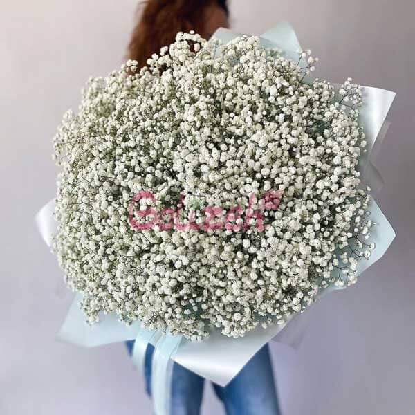 دسته گل ژیپسوفیلا سفید